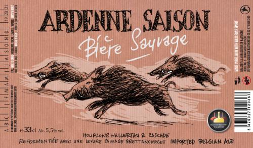 Brasserie Minne Ardenne Saison 75cl Brettanomyces saison Wild Sanglier