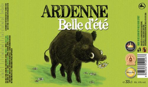 brasserie minne Belle d'été Bière Vert Blé Froment prairie Sanglier 75cl 33cl Blanche Double blanche
