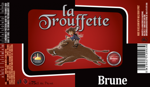 Brasserie Minne Brune Bière Rouge 75cl Double Sanglier